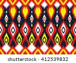 geometric ethnic oriental ikat... | Shutterstock .eps vector #412539832