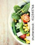 healthy eating  dieting ... | Shutterstock . vector #412545766