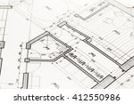 architecture blueprint    house ... | Shutterstock . vector #412550986