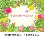 summer holiday tropical... | Shutterstock . vector #412551112