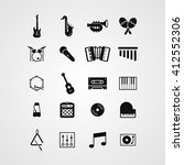 musical instruments icon set.... | Shutterstock .eps vector #412552306