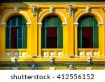 Windows of Saigon Central Post Office, Ho Chi Minh City, Vietnam