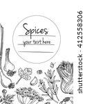 herbs. spices. italian herb... | Shutterstock .eps vector #412558306