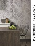 modern grey wallpaper  black... | Shutterstock . vector #412564846