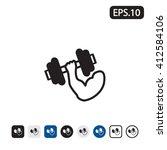 strength training icon. vector... | Shutterstock .eps vector #412584106
