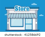 store icon. shop icon. flat...   Shutterstock .eps vector #412586692