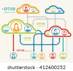 brainstorming.abstract elements.... | Shutterstock .eps vector #412600252