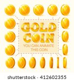 set of golden coins rotation...