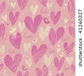 stylish cartoon love pattern in ... | Shutterstock .eps vector #41260327