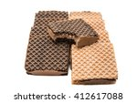 chocolate wafer isolated on a... | Shutterstock . vector #412617088