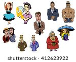 different people | Shutterstock . vector #412623922