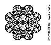 mandala. ethnic decorative... | Shutterstock .eps vector #412627192