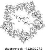 composition sunny summer ... | Shutterstock .eps vector #412631272