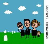 Family In A Funeral