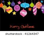 christmas decorative ball... | Shutterstock .eps vector #41264347