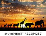 Silhouettes Of Animals On...