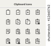 clipboard icons set in flat... | Shutterstock . vector #412660762