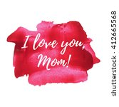 happy mother's day sweet red... | Shutterstock .eps vector #412665568