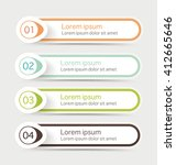 vector steps  progress banners... | Shutterstock .eps vector #412665646