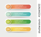 vector steps  progress banners... | Shutterstock .eps vector #412665652