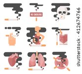 icons about smoking  vector... | Shutterstock .eps vector #412674766
