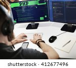 php coding computer css data... | Shutterstock . vector #412677496