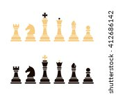 chess icons. set of chess in... | Shutterstock .eps vector #412686142