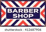 vintage metal sign   barber... | Shutterstock .eps vector #412687906
