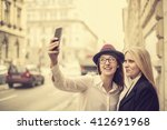 friends taking a picture of... | Shutterstock . vector #412691968