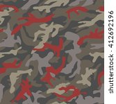 camouflage pattern | Shutterstock .eps vector #412692196