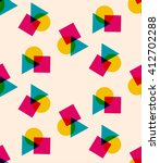 colorful geometric vector... | Shutterstock .eps vector #412702288