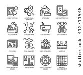 seo   usability icons set 1  ... | Shutterstock .eps vector #412711948