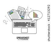 spreadsheet design  technology... | Shutterstock .eps vector #412713292