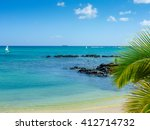 beach of grand baie  north of... | Shutterstock . vector #412714732