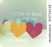 i'm in love with you   cute... | Shutterstock . vector #412716118