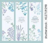 vector hand drawn cosmetics... | Shutterstock .eps vector #412719298
