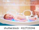 newborn baby get the light... | Shutterstock . vector #412723246