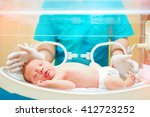 medical staff taking care of... | Shutterstock . vector #412723252