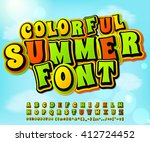 colorful summer high detail... | Shutterstock .eps vector #412724452