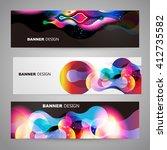 set of flyer  brochure design... | Shutterstock .eps vector #412735582