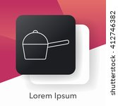 pot line icon | Shutterstock .eps vector #412746382
