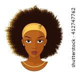vector illustration of an afro...   Shutterstock .eps vector #412747762
