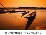 Sunrise Fishing Boat Morning I...