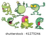 cute cartoon frogs. all in... | Shutterstock .eps vector #41275246