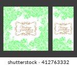 romantic invitation. wedding ... | Shutterstock . vector #412763332