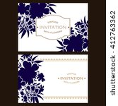 romantic invitation. wedding ... | Shutterstock .eps vector #412763362