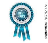 silver best price badge ... | Shutterstock .eps vector #412764772