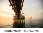 offshore construction platform... | Shutterstock . vector #412769398