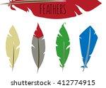 cartoon feathers | Shutterstock .eps vector #412774915