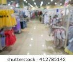 abstract blurred of kids wear... | Shutterstock . vector #412785142